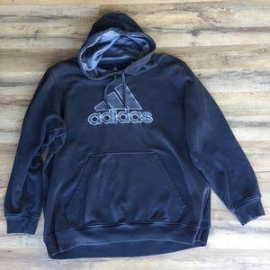 Addis's gray pull over hoodie
